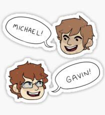 Michael & Gavin Sticker