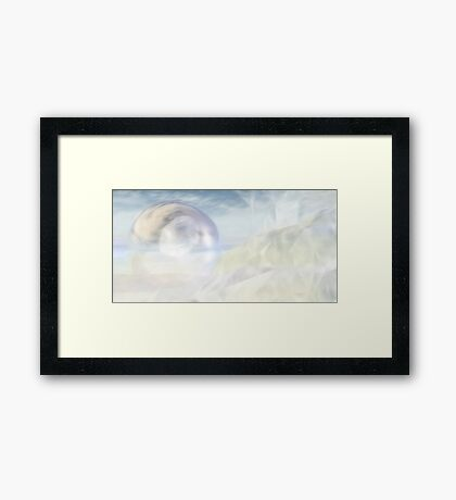 Plushy White Framed Print