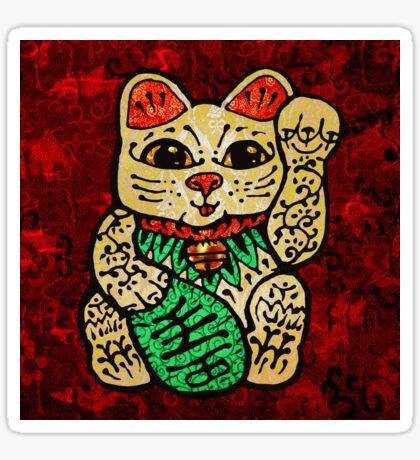 'Shiny Lucky Cat' Sticker