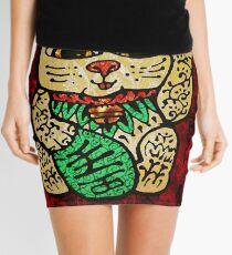 'Shiny Lucky Cat' Mini Skirt