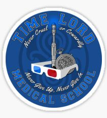 Time Lord Medical School 10 Sticker
