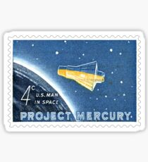 USA Project Mercury Postage Stamp Sticker