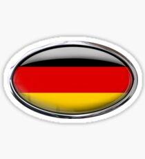 Germany Flag Glass Oval Die Cut Sticker Sticker