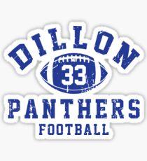 Dillon Panthers Football - 33 Sticker