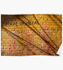 Made in Nepal on Wall Bhaktapur Poster