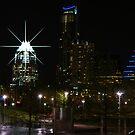 Austin Night Skyline by Cathy Jones