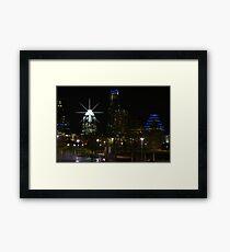 Austin Night Skyline Framed Print
