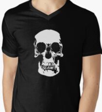 221b Baker Street Skull Men's V-Neck T-Shirt
