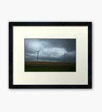Kansas Windmill Farm Framed Print