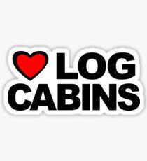 Love Log Cabins Sticker