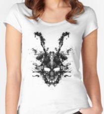 Camiseta entallada de cuello ancho Mancha de tinta imaginaria- Donnie Darko