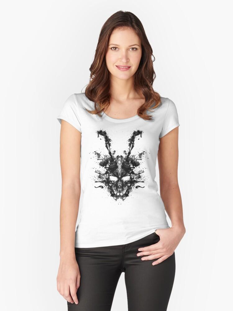 Imaginary Inkblot- Donnie Darko Shirt Women's Fitted Scoop T-Shirt Front
