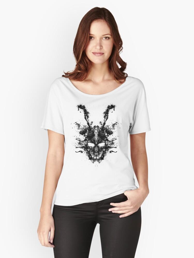 Imaginary Inkblot- Donnie Darko Shirt Women's Relaxed Fit T-Shirt Front