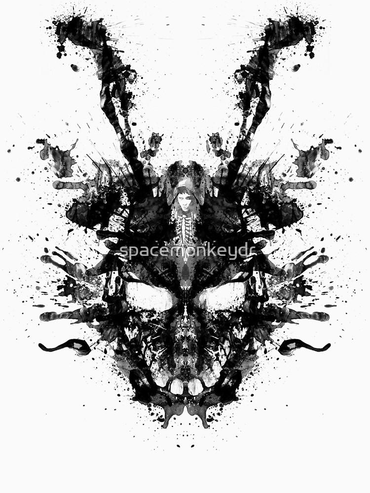 Imaginäres Tintenkleks-Donnie Darko Shirt von spacemonkeydr