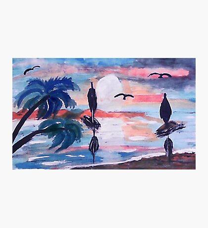 Sailing inthe bay,, watercolor Photographic Print