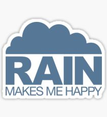 Rain Makes Me Happy Sticker