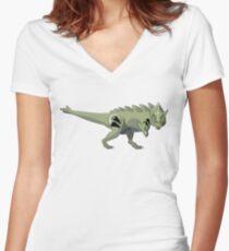 Pokesaurs - Tyranitaurus Women's Fitted V-Neck T-Shirt