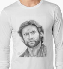 Hugh Jackman, the Wolverine! Long Sleeve T-Shirt