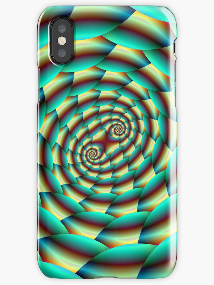 Snake Skin Spiral in Green and Yellow by Objowl