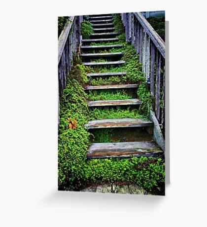 Weathered Stairway Greeting Card