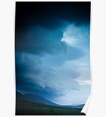 Crazy views of Iceland,  Akureyri. Poster