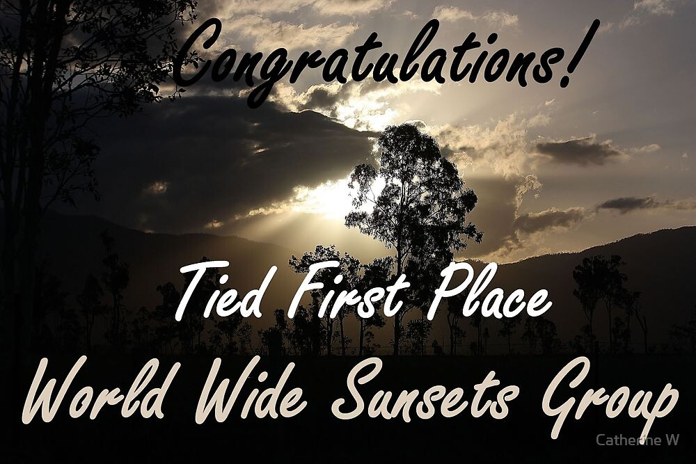 Tied First Place - World Wide Sunsets - Challenge Banner by cathywillett