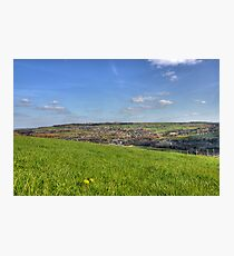 Sitting on a Grassy Hill Photographic Print