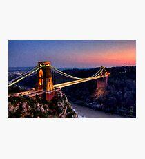 Clifton Suspension Bridge in Oil Photographic Print