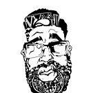 Graffiti Pop-art Cartoon Portrait  by eaaasytiger