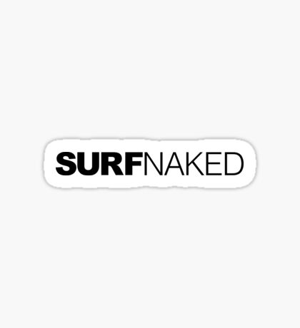 Surf Naked Sticker