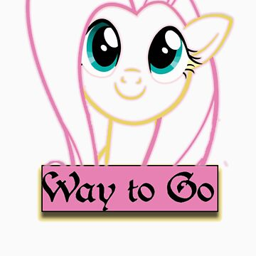 Fluttershy - Way To Go outline by SoloBron3