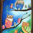 Owls School by Malerin Sonja Mengkowski