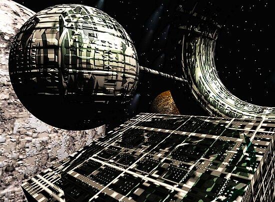 The Flight Across the Three Universes #1 - Flying Cities by Benedikt Amrhein