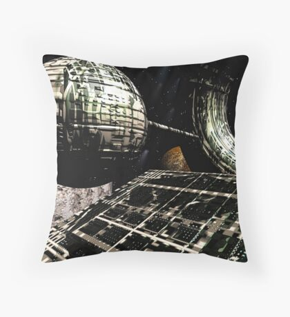 The Flight Across the Three Universes #1 - Flying Cities Throw Pillow