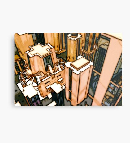 The Flight Across the Three Universes #3 - Utopia City Dawns #2 Metal Print