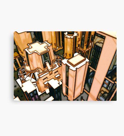 The Flight Across the Three Universes #3 - Utopia City Dawns #2 Canvas Print