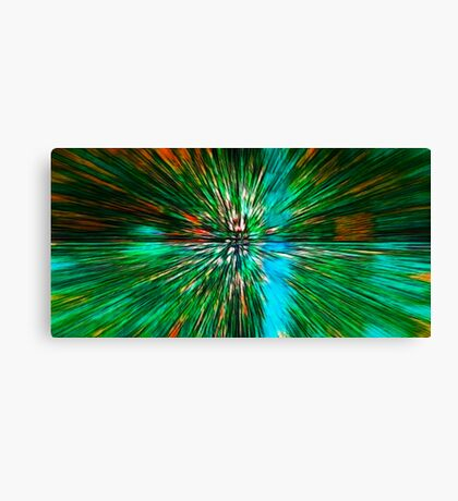 The Flight Across the Three Universes #4 - What's hiding there beyond the wormhole? Canvas Print