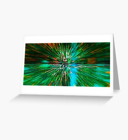 The Flight Across the Three Universes #4 - What's hiding there beyond the wormhole? Greeting Card