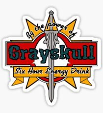 Grayskull Energy Drink Sticker