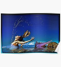 The Playful Mermaid Poster