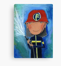 Firefighter for Kids Canvas Print