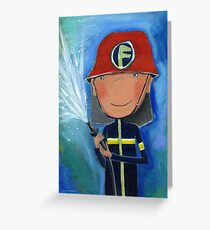 Firefighter for Kids Greeting Card