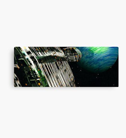 The Flight Across the Three Universes #7 - Fortune's Landing Canvas Print