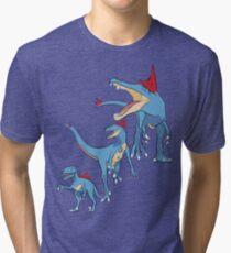 Pokesaurs - Totodilian Evolution Tri-blend T-Shirt