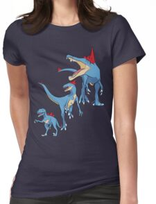 Pokesaurs - Totodilian Evolution Womens Fitted T-Shirt