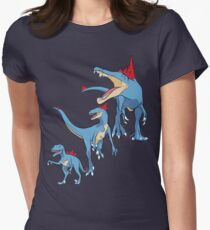 Pokesaurs - Totodilian Evolution Women's Fitted T-Shirt