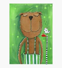 Mr. Bear love Music Photographic Print