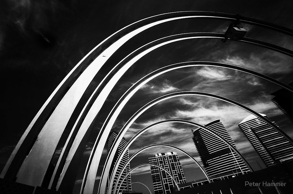Arches and Highrise by Peter Hammer