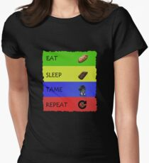 ARK Survival evolved -  EAT SLEEP TAME REPEAT Women's Fitted T-Shirt