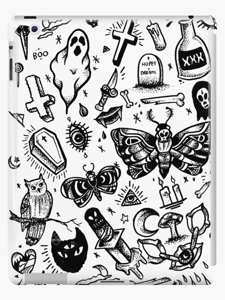 94 Pork Tattoo Flash Sheet 1 Goblinko Megamall Pork Tattoo Party